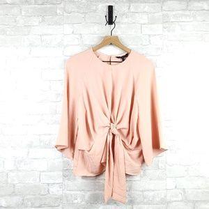 BCBGMaxAzria front tie blouse | Size M